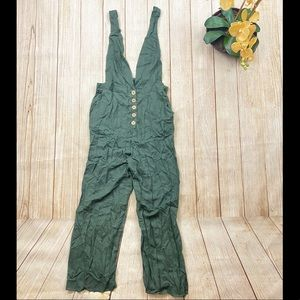 Adjustable Strap Olive Jumpsuit Overall Various Sz